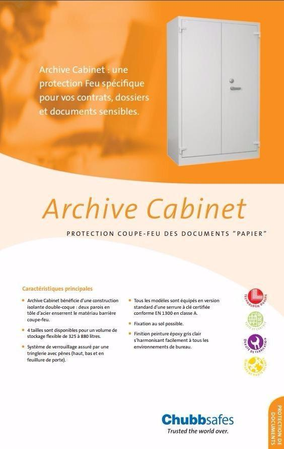 armoire forte document protection incendies